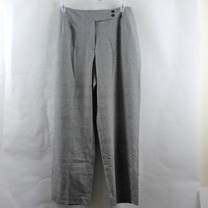Talbots Black Gray Purple Plaid Pants Trousers